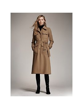 Trench Coat, Ribbed Turtleneck, Jamie Boot by Michael Michael Kors