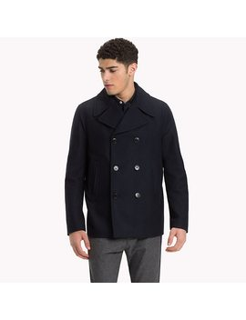 Short Wool Pea Coat by Tommy Hilfiger