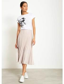 Shell Pleated Satin Skirt by Mint Velvet
