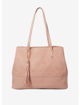 Blush Tassel Panel Tote Bag by Dorothy Perkins