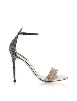 Women's Celebrita Two Tone Satin Sandals W/Crystals by Rene Caovilla