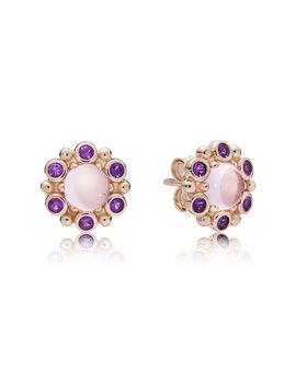 Heraldic Radiance Earrings, Pandora Rose™ Pink & Purple Crystals Pandora Rose, Pink, Crystal by Pandora