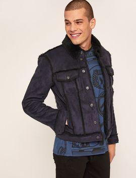 Faux Shearling Trucker Jacket by Armani Exchange