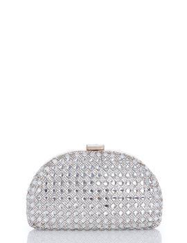 *Quiz Silver Diamante Box Clutch Bag by Dorothy Perkins