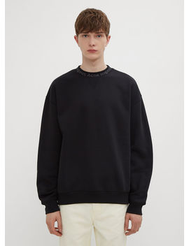 Iconic Flogho Sweatshirt In Black by Acne Studios