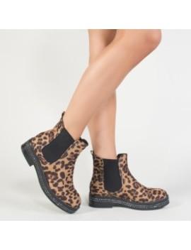 Glare Chelsea Boots In Leopard Print by Public Desire