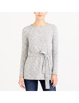Belted Sweatshirt by J.Crew