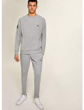 Jog On Grey Loopback Tapered Joggers* by Topman