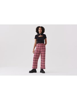 Lazy Oaf Check Cord Wide Leg Trousers by Lazy Oaf