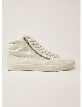 White Wheeler Hi Top Trainers by Topman