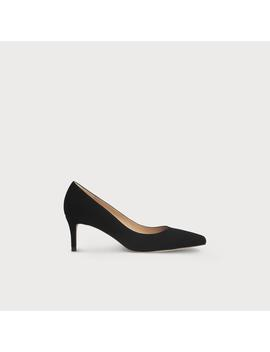 Elma Black Suede Closed Courts by L.K.Bennett
