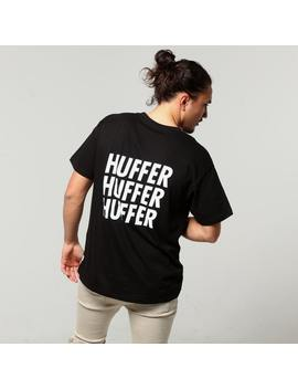 Huffer Stacked Sup Tee Black by Huffer