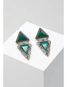 Ethnic Triangle Drop   Boucles D'oreilles   Silver by Erase