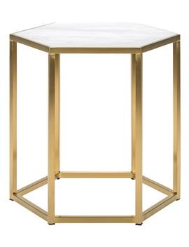 Carling Side Table, Gold by Lulu & Georgia