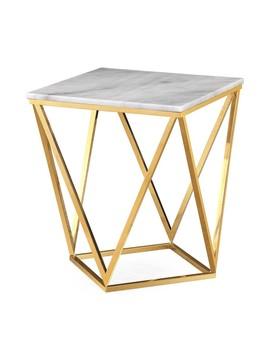 Calina Side Table, Gold by Lulu & Georgia