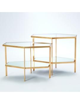 Georgia Table, Brass by Lulu & Georgia