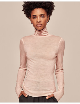 Superfine Knit Roll Neck Top by Me+Em