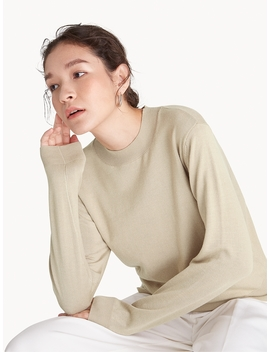 Knit Long Sleeve Top   Beige by Pomelo