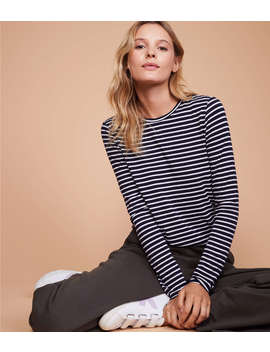 Lou & Grey Striped Softened Jersey Layering Tee by Lou & Grey