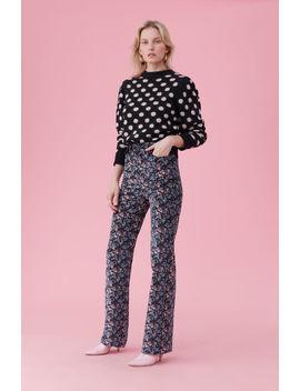 La Vie Jacquard Dot Pullover by Rebecca Taylor