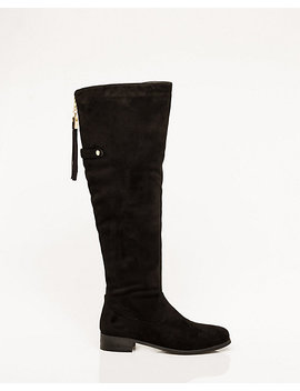 Suede Like Over The Knee Riding Boot by Le Chateau