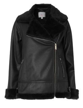 Petite Black Aviator Jacket by Dorothy Perkins