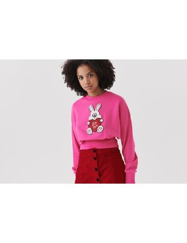Lazy Oaf Not Here Bunny Sweatshirt by Lazy Oaf