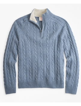 Wool Blend Half Zip Sweater by Brooks Brothers