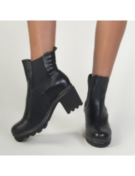 Ari Heeled Chelsea Boots In Black by Public Desire