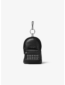 Studded Leather Backpack Key Chain by Michael Kors Mens