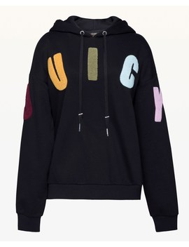 Bouclé Juicy Fleece Hooded Pullover by Juicy Couture