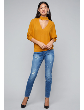 Dolman Sleeve Top by Bebe