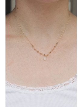 Gold And Grey Bead Necklace by Brandy Melville