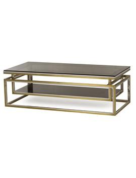 Boyd Drop Shelf Coffee Table, Smoked Glass by Lulu & Georgia