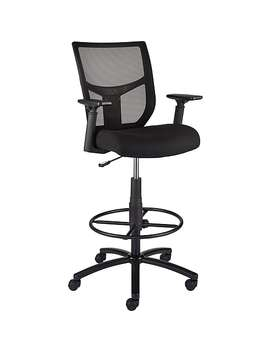 Staples Cabal Stool With Arms, Black by Staples