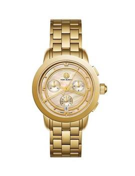Gold Tone/ Blush Mop Chronograph Tb1026 Watch by Tory Burch