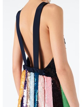 Striped Sequined Overall Dress by Tibi