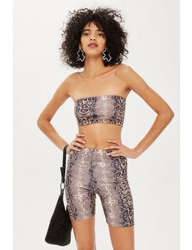 Faux Snake Print Bandeau Top By We Own The Night by Topshop