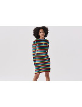 Lazy Oaf Rainbow Rib Dress by Lazy Oaf
