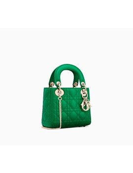 """Mini Lady Dior Bag With Chain In Green """"Cannage"""" Lambskin by Dior"""