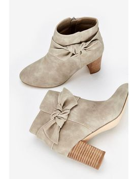 Stone Bow Detail Ankle Boot by Wallis