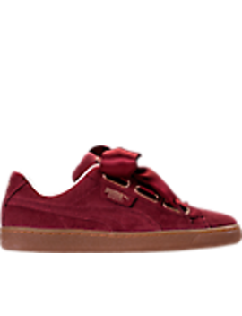 Women's Puma Basket Heart Casual Shoes by Puma