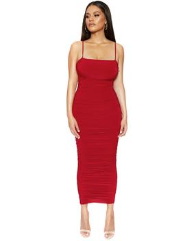 The Ruched Hourglass Midi Dress by Naked Wardrobe