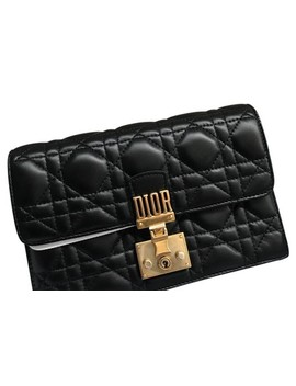 Dioraddict Wallet On Chain Black Lambskin Leather Cross Body Bag by Dior