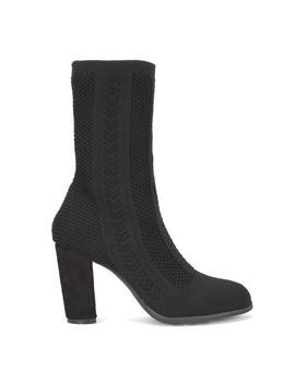 Patterned High Sock Boot In Black by Koi Footwear