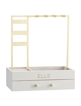 Elle Lacquer Jewelry Display Stand, Gray/Gold by P Bteen