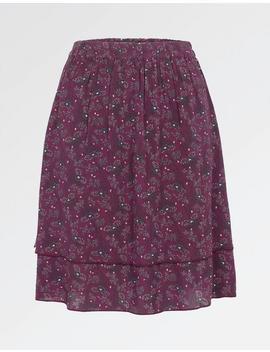 Violet Artisan Floral Skirt by Fat Face