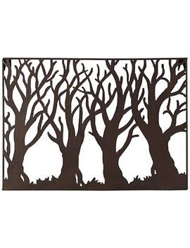"Tree Silhouette 19 1/4"" Wide Metal Wall Art by Lamps Plus"
