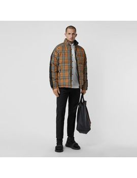Reversible Vintage Check Down Filled Puffer Jacket by Burberry