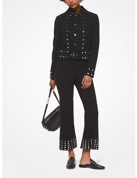 Studded Stretch Crepe Jacket by Michael Michael Kors